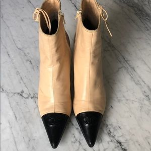 Chanel Kitten Heel Ankle Boots